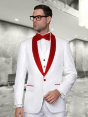 and Red Lapel Tuxedo