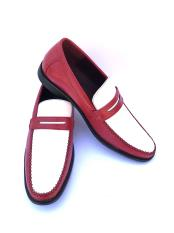 Toned Red/white Slip-On Style