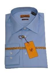 ID#223 Online Cheap Dress Lay down Cheap Fashion Clearance Shirt Sale Online For Men Blue Regular Cuff 61101-2