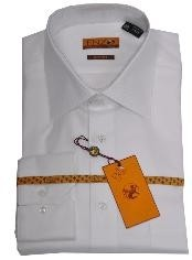 ID#FR223 Online Cheap Dress Lay down Cheap Fashion Clearance Shirt Sale Online For Men White Twill Regular Cuff 61102-1-B