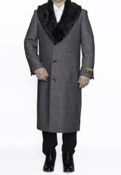 Fur Collar Topcoat 4XL
