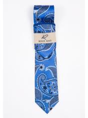 Royal Blue Paisley Designed