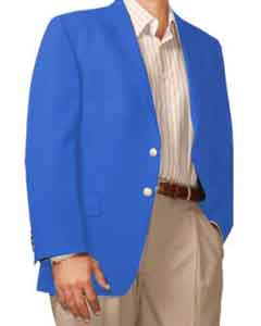 ID#HL8714 Two Button Sportcoatt Blazer Suit Jacket Royal Light Blue Perfect for wedding