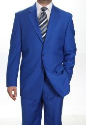 ID#KA1336 Two Button Suit Royal Light Blue Perfect for wedding Jacket Sportcoat Jacket + Pants