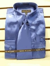 ID#HG423 New Royal Satin Dress Cheap Fashion  Clearance Shirt Sale Online For Men Tie Combo Shirts