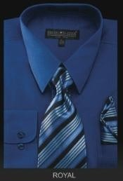 ID#RY6009 Dress Cheap Fashion Clearance Shirt Sale Online For Men - PREMIUM TIE - Royal
