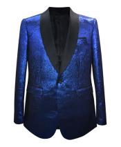 ID#DB24642 Royal Shiny 1 Button  Sport Coat Blazer