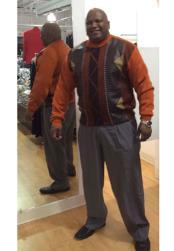 Rust/Brown Long Sleeve Sweater