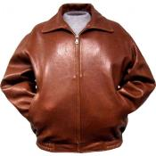 Leather skin Bomber Jacket