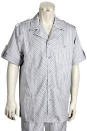Pattern Short Sleeve Button