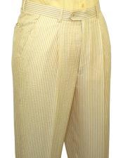 Yellow Slacks Dress Pants