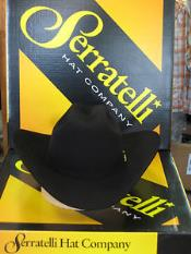 ID#KA6374 Serratelli Designer 30x San Jose Dark color black 4 Brim western  Hat