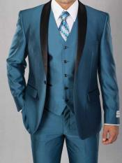 Teal Blue 3 Piece