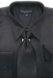 ID#MA171 Dark color black Shiny Silky Satin Dress Fashion Clearance Cheap Priced Shirt Online Sale For Men/Tie