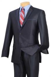 ID#BC-53 Prom ~ Wedding Groomsmen Tuxedo & Formal Shiny Blue Trimmed Inexpensive ~ Cheap ~ Discounted Clearance Sale Extra Slim Fit Prom Suits for Men Fitted Style Navy
