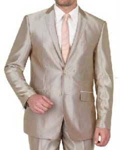 Shiny Brown Suit Suit
