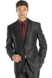 sharkskin  Suit Side-Vented