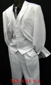 White 3 Piece Suit