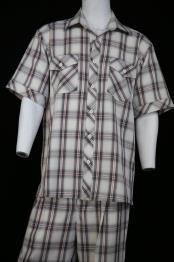 ID#DB23742 Single Pocket Short Sleeve Black 2Piece Shirt & Pants