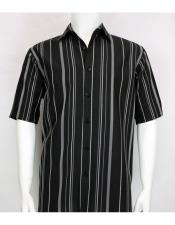 Short Sleeve Shadow Stripe