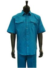 Sleeve Teal Blue Linen