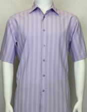 Sleeve Shadow Stripe Lavender