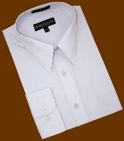 ID#JU828 Silver Grey Cotton Blend Dress Cheap Fashion Clearance Shirt Sale Online For Men With Convertible Cuffs