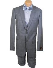 Grey 100% Wool Single