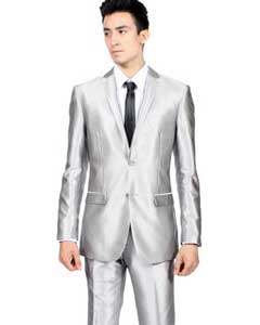 Fit Shiny Silver Prom