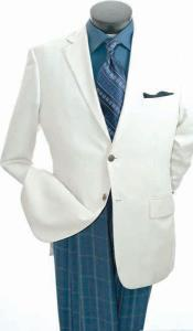 SKUPN#77 Single Beasted Sportcoat Jacket - Notch Collared Egg Shell
