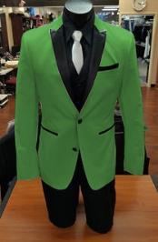 2 Button Apple Green
