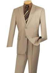 Single Breasted Beige Color suit