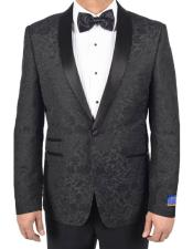 One Button Tuxedo Black
