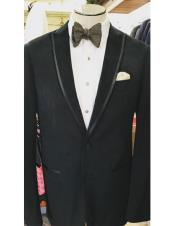 ID#DB23319 Black  Prom ~ Wedding Groomsmen Tuxedo Trimmed Suit