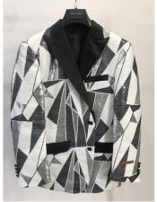 ID#DB24761 Black ~ White Blazer ~ Suit Jacket