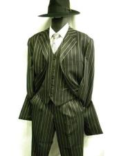 Piece Black White Pinstripe