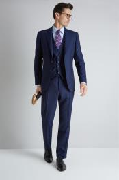 Notch Lapel Blue Fully