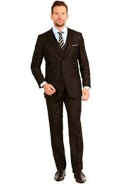 Chocolate brown Slim Fit