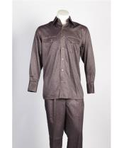 5 Button Brown Suit