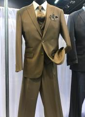 Brown 2 Button Suit