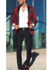 ID#NM743 Men's Burgundy  Satin Slim Fit Best Cheap Blazer For Affordable Cheap Priced Unique Fancy For Men Available Big Sizes on sale Men Affordable Sport Coats Sale