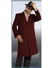 Button Burgundy Full Length