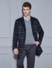 Plaid Single Breasted Wool