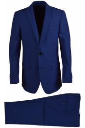 Button Wool Blend Cobalt