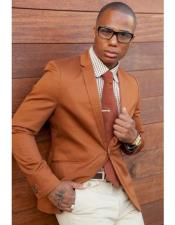 ID#DB22123  Cognac ~ Rust ~ Copper Color 2 Buttons Best Cheap Blazer For Affordable Cheap Priced Unique Fancy For Men Available Big Sizes on sale Men ~ Sport Coat Jacket Affordable Sport Coats Sale
