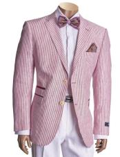 Breasted Cranberry Linen Blazer