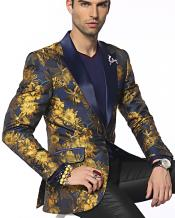 Breasted Austin Gold/Navy Fashion