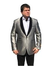 Shawl Lapel Cheap Big and Tall Large Man ~ Plus Size Fashion  Sport coats Jackets Blazer For Gray