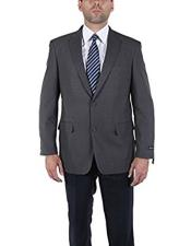 ID#DB21891  Classic Gray 2 Button Modern Fit Blazer Suit  Best Cheap Blazer For Affordable Cheap Priced Unique Fancy For Men Available Big Sizes on sale Men Affordable Sport Coats Sale