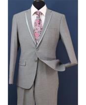 Pieces Notch Lapel Gray